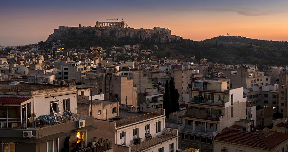 Time Lapse of day to night of the Acropolis, Athens, Greece, Europe - 844-14904
