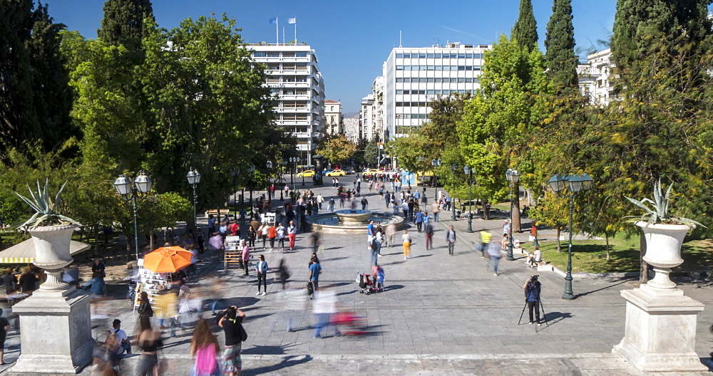 Time Lapse of Syntagma Square from Parliament, Athens, Greece, Europe - 844-14912