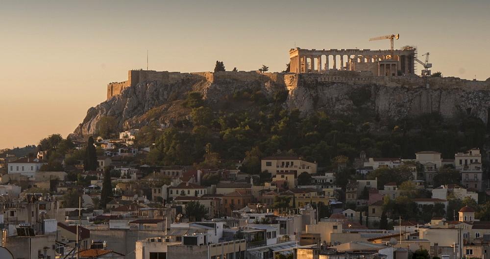 Time Lapse of sunrise on the Acropolis, Athens, Greece, Europe - 844-14914