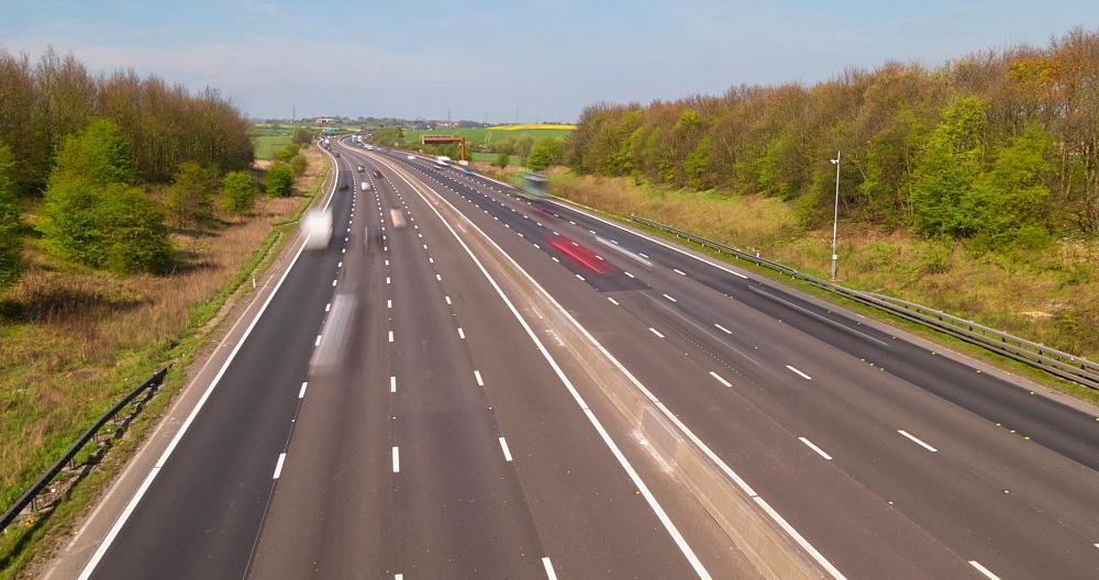M1 motorway near Junction 29, Derbyshire, England, United Kingdom, Europe
