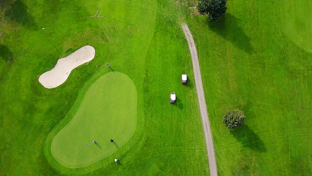 Aerial view of Chinook Cove Golf course, Barriere, British Columbia, Canada, North America - 844-15280
