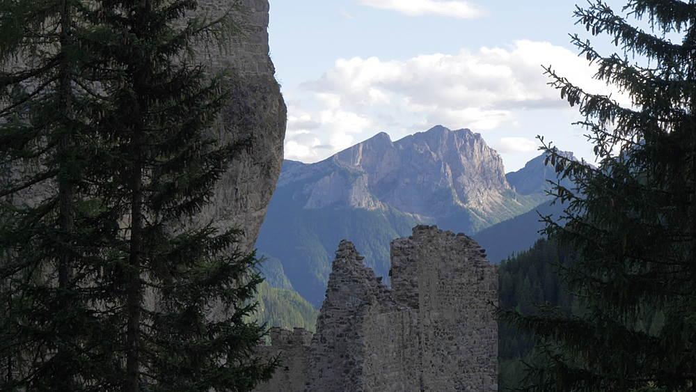 View of Castello di Andraz, Province of Belluno, Italian Dolomites, Italy, Europe - 844-16022