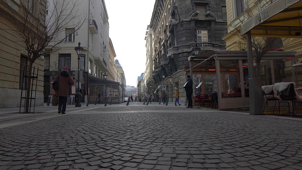 Zrinyi U during winter, Budapest, Hungary, Europe