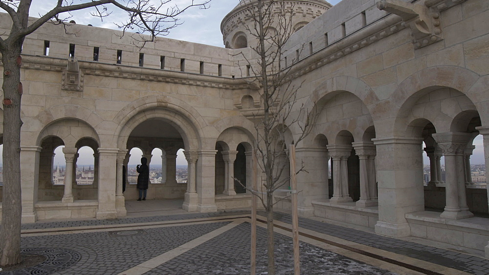 Fishermans Bastion during winter, Castle District, UNESCO World Heritage Site, Budapest, Hungary, Europe