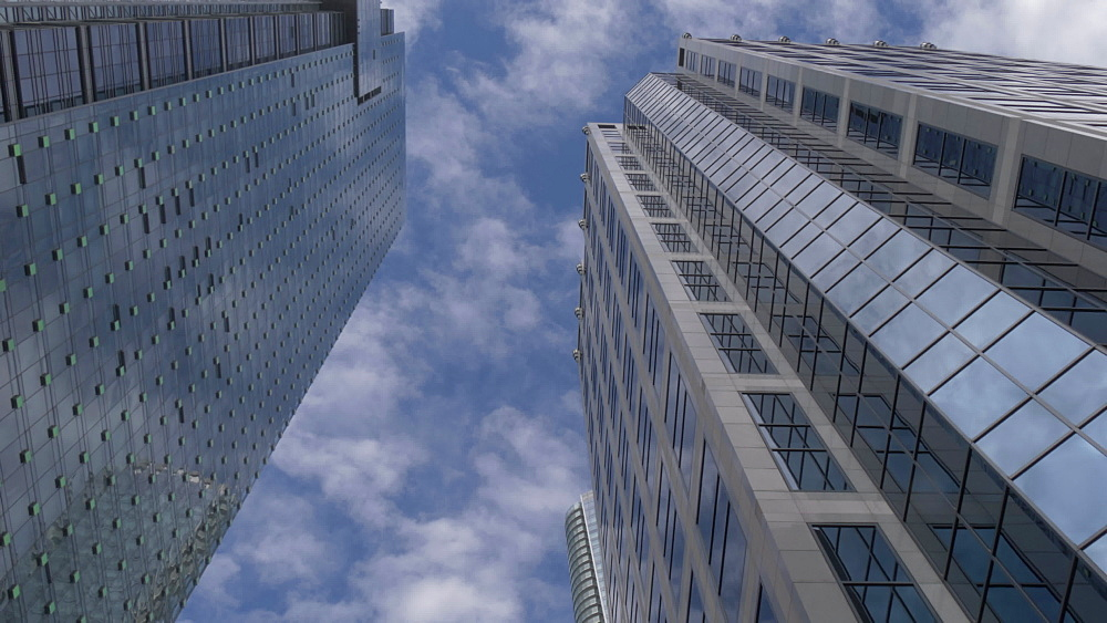 View of tall urban modern buildings in Downtown, Vancouver, British Columbia, Canada, North America - 844-16409