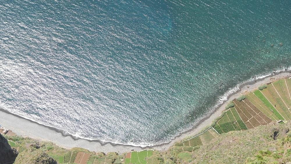 View of Atlantic Ocean and coastline Cabo Girao Skywalk, Cabo Girao, Madeira, Portugal, Europe - 844-16485