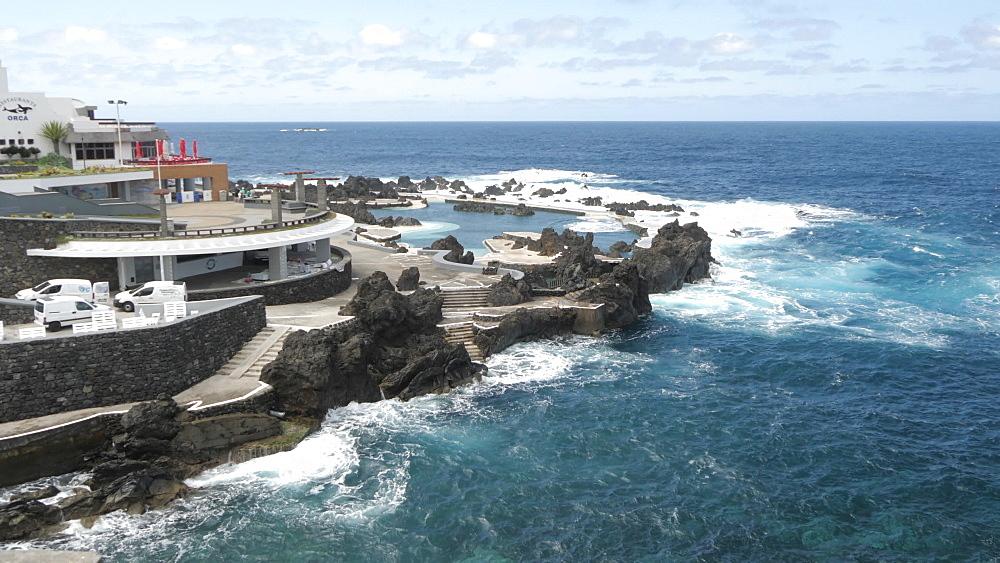 View of Natural Pools and Atlantic Ocean, Porto Moniz, Madeira, Portugal, Atlantic, Europe