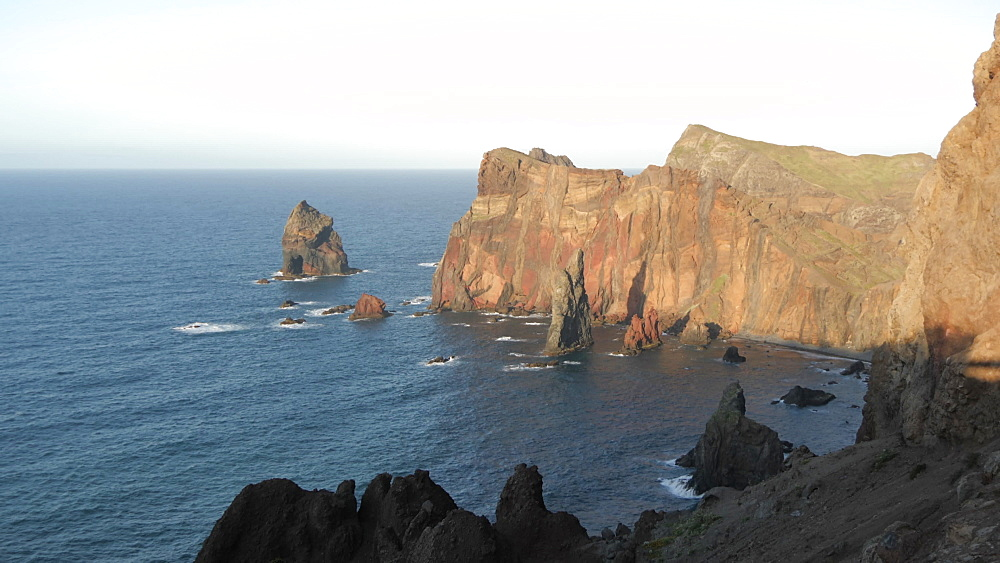 View of rocky coastline at the Ponta da Sao Lourenco, Eastern tip of the island, Madeira, Portugal, Atlantic, Europe - 844-16511