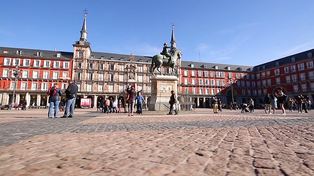 Philip III statue in Plaza Mayor, Madrid, Spain, Europe - 844-16624