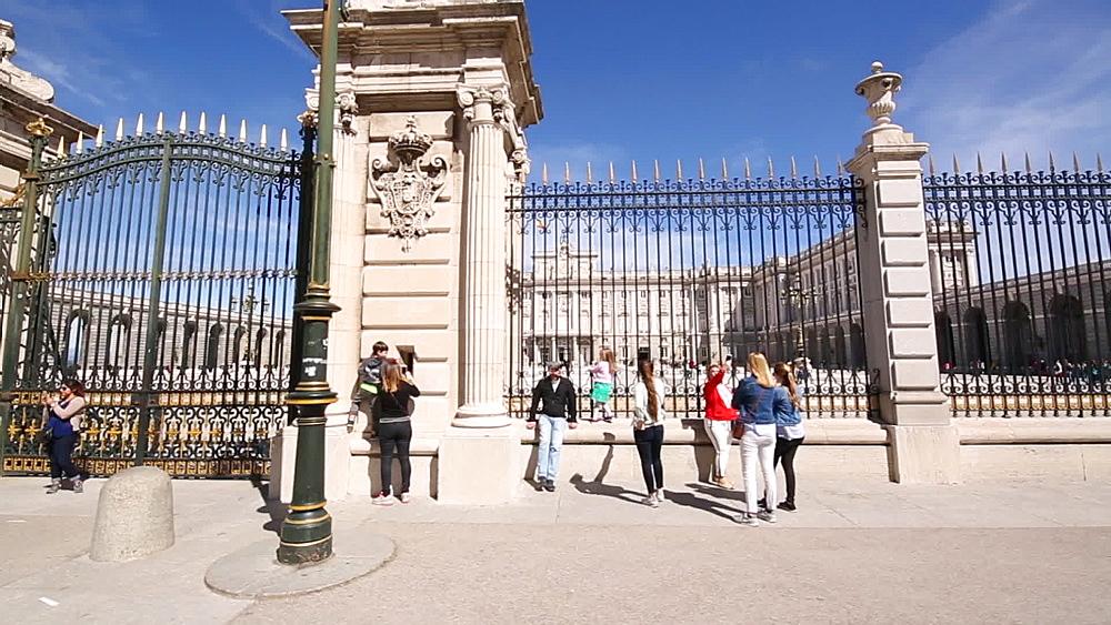 Roaming shot of Royal Palace of Madrid, Madrid, Spain, Europe - 844-16639