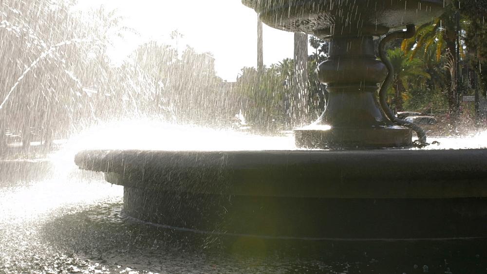 Roaming shot of water fountain and Casino de Marrakech, Marrakech, Morocco, North Africa, Africa - 844-16708