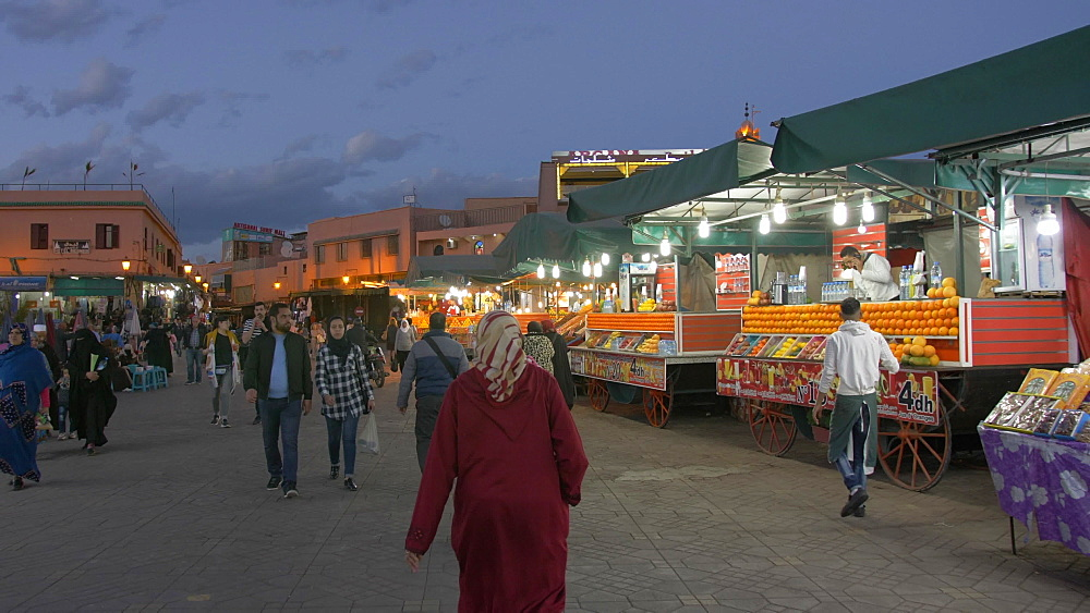 Activity on Djemaa el Fna and medina at dusk, Marrakech, Morocco, North Africa, Africa - 844-16720