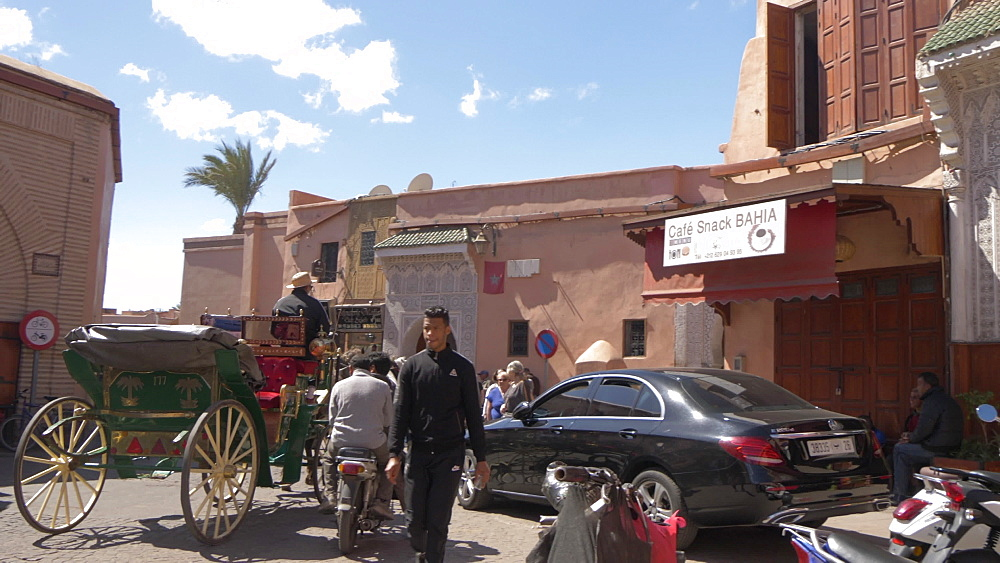 Horse and carriage near Jardin Sidi Hmed El Kamel, Marrakesh, Morocco, North Africa, Africa - 844-16740