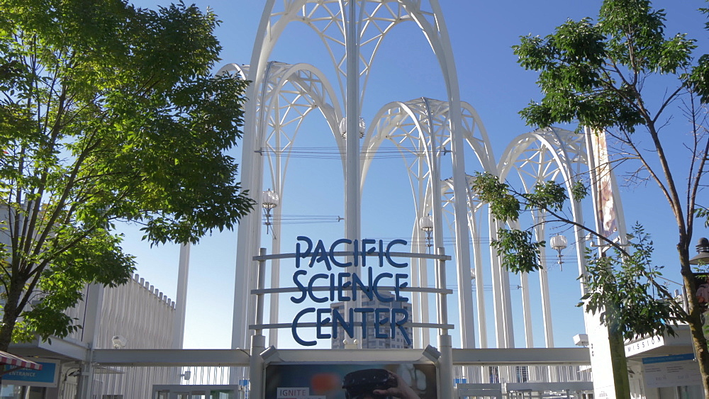View of Pacific Science Centre entrance, Seattle, Washington State, United States of America, North America
