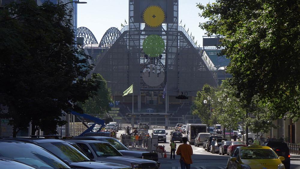 View of Centurylink Stadium entrance, Seattle, Washington State, United States of America, North America - 844-16813