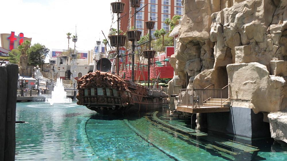 View from Treasure Island Hotel and Casino on The Strip, Las Vegas Boulevard, Las Vegas, Nevada, United States of America, North America - 844-17139