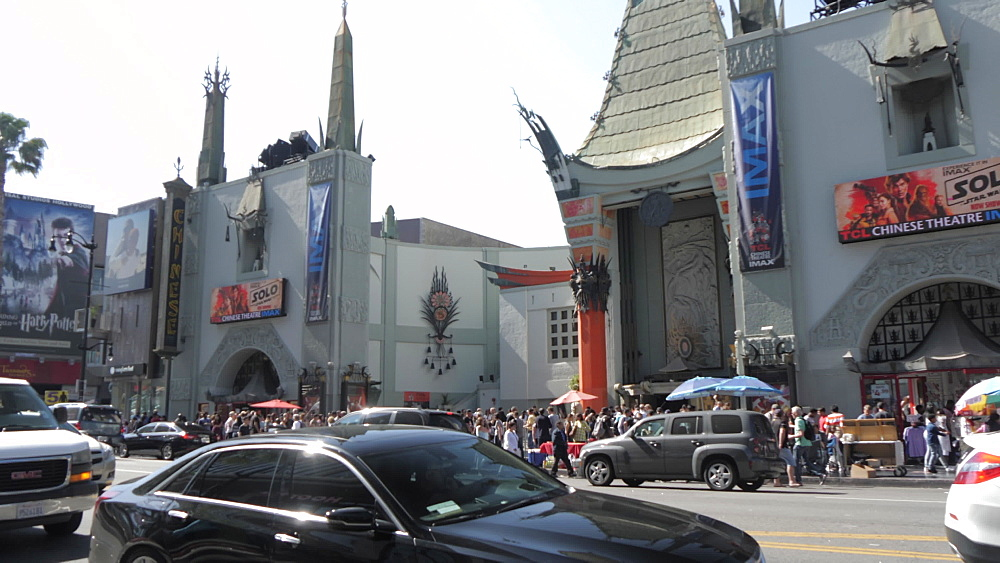 Hollywood Boulevard, Hollywood and view of TCL Chinese Theatre, Los Angeles, California, United States of America, North America