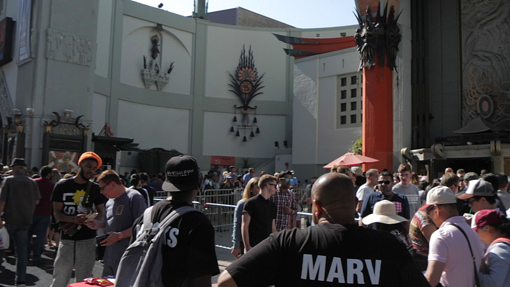 Hollywood Boulevard and view of TCL Chinese Theatre, Los Angeles, California, United States of America, North America