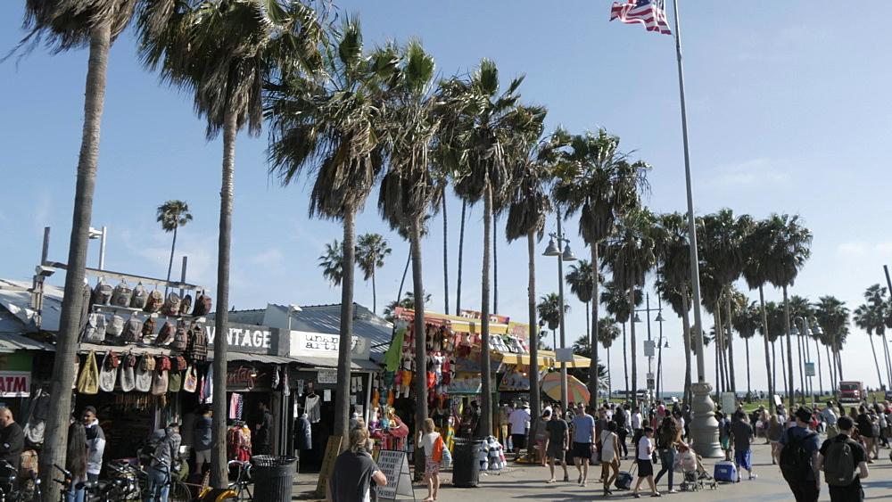 Ocean Walk at Venice Beach, Santa Monica, Los Angeles, California, United States of America, North America