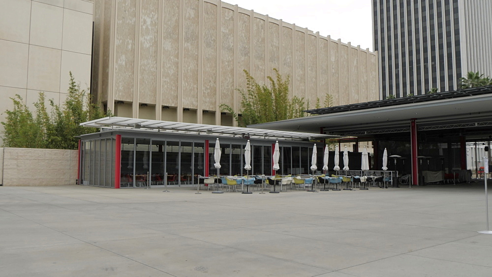 View of exterior of Los Angeles County Museum of Art, Los Angeles, California, United States of America, North America