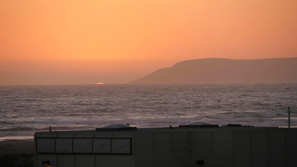 Sunset over Pacific Ocean near Santa Barbara, California, United States of America, North America