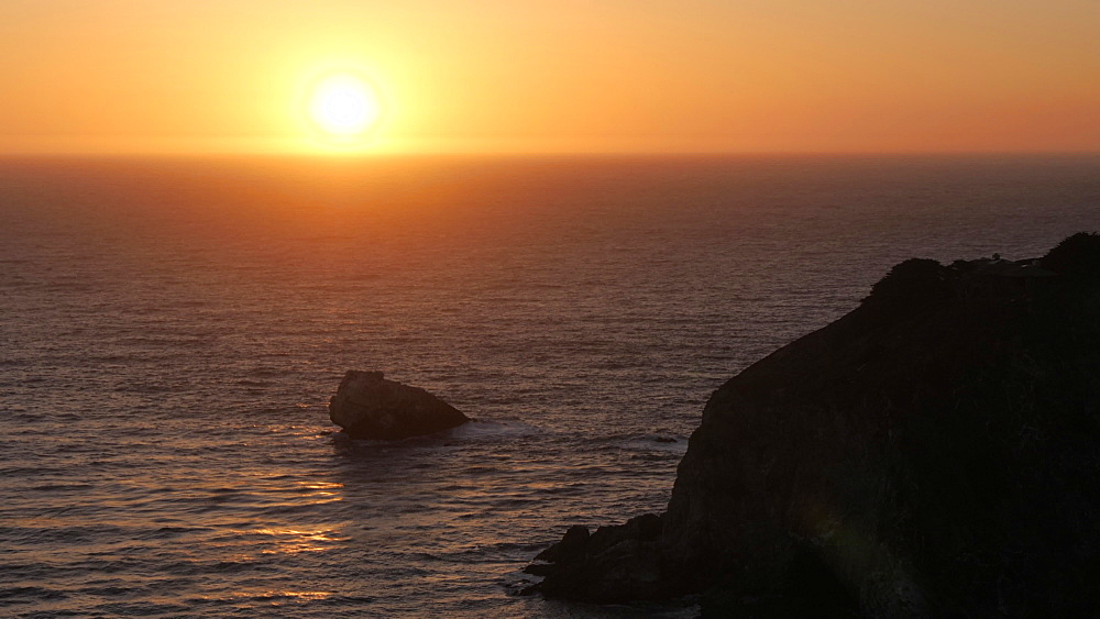 Sunset from Cabrillo Highway 1 at Big Sur, California, United States of America, North America