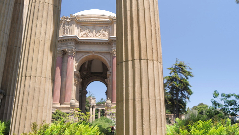 The Palace of Fine Arts on a summer day, San Francisco, California, United States of America, North America