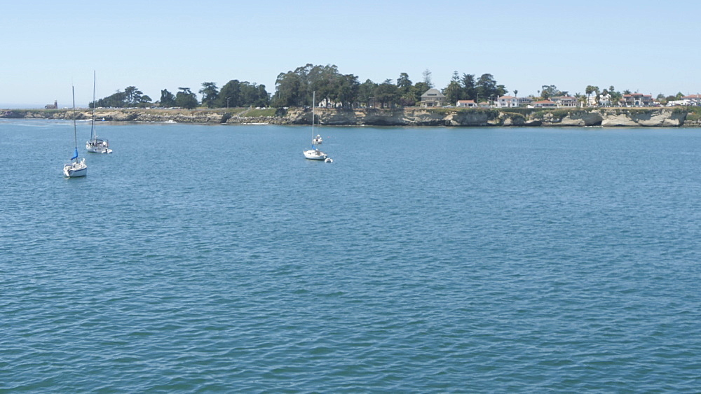 Coastline from Municipal Wharf, Santa Cruz, California, United States of America, North America