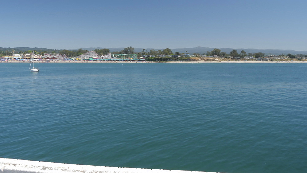 View of Pacific Ocean from Municipal Wharf, Santa Cruz, California, United States of America, North America