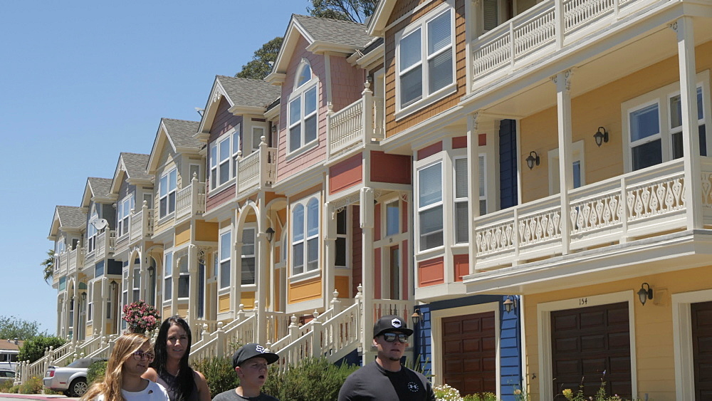View of colourful houses on summer?s day, Santa Cruz, California, United States of America, North America - 844-17627