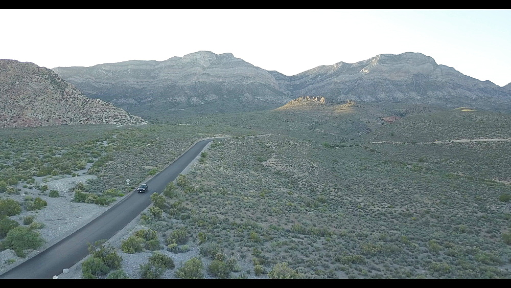 Flight through Red Rock Canyon National Conservation Area, Nevada, United States of America, North America