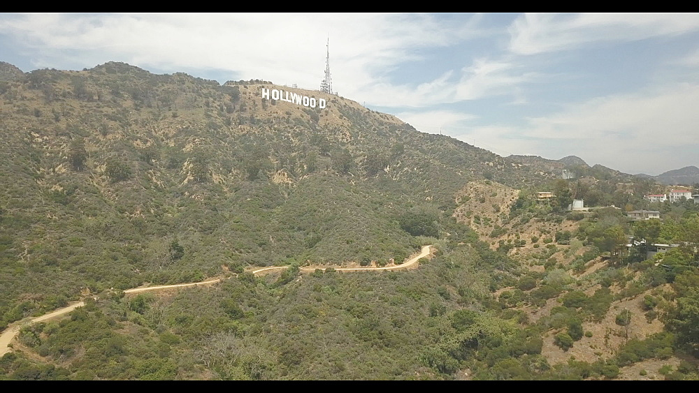 Aerial view near Hollywood sign, Los Angeles, California, United States of America, North America