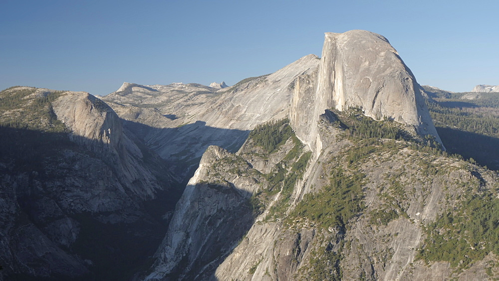 View of Half Dome from Glacier Point at sunset, Yosemite National Park, UNESCO World Heritage Site, California, United States of America, North America