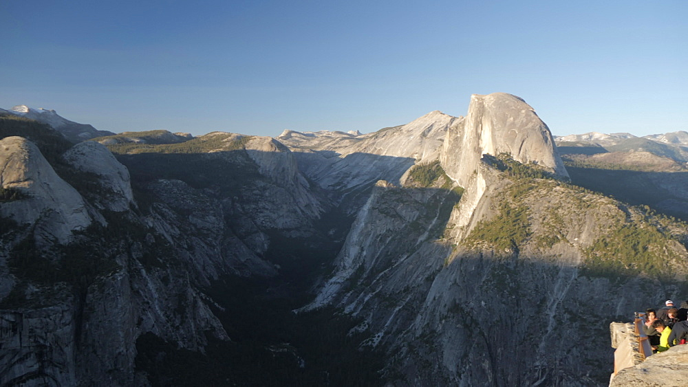 View of Half Dome at Glacier Point at sunset, Yosemite National Park, UNESCO World Heritage Site, California, United States of America, North America