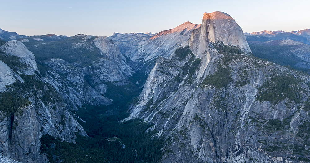 Time lapse from Glacier Point of Half Dome and Yosemite Valley, Yosemite National Park, California, USA, North America - 844-18060