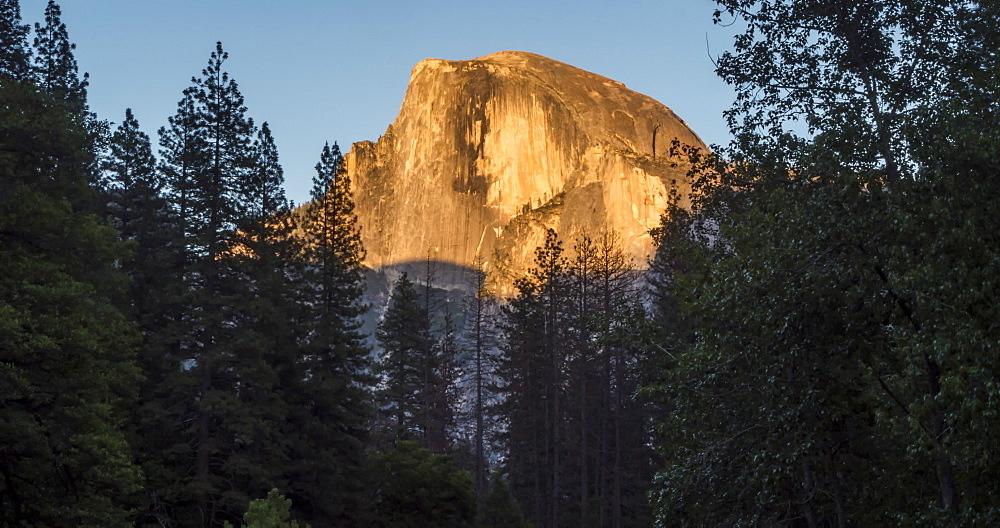Time lapse from Yosemite Village of Half Dome and Yosemite Valley, Yosemite National Park, California, USA, North America - 844-18061