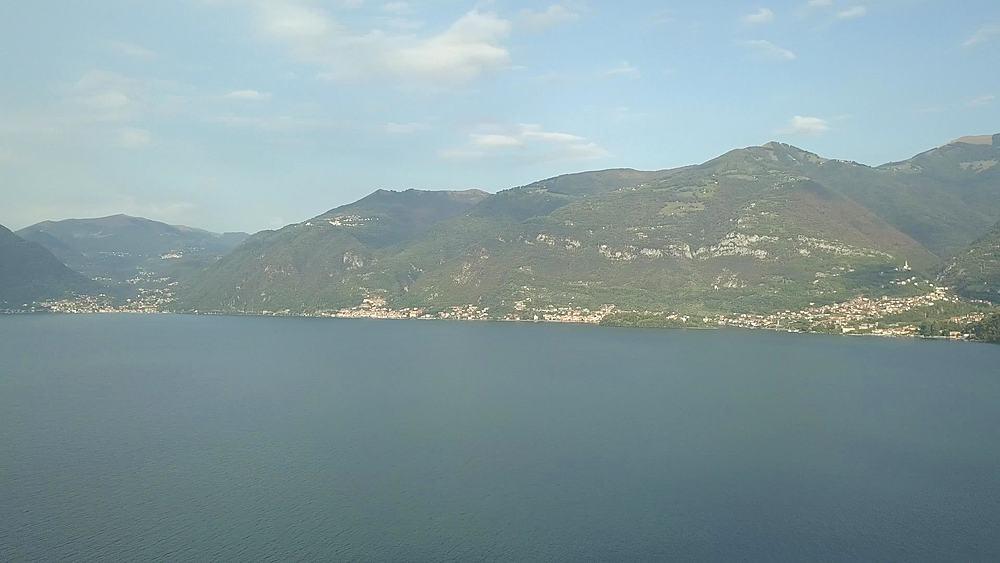 Flight over Lake Como near Lezzeno, Lombardy, Italy, Europe - 844-18807
