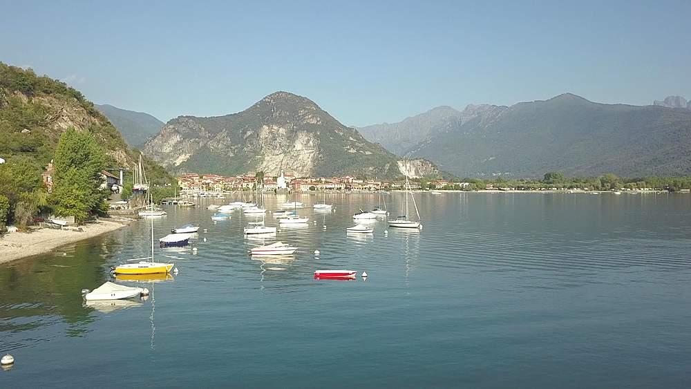 Flight over Lake Maggiore near Feriolo, Piedmont, Italy, Europe - 844-18820