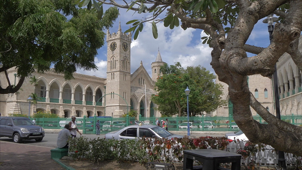 Parliament Building from National Heroes Square, Bridgetown, Barbados, West Indies, Caribbean, Central America