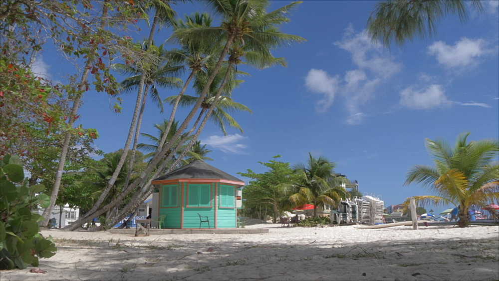 Slider shot of Worthing Beach, Barbados, West Indies, Caribbean, Central America - 844-19086
