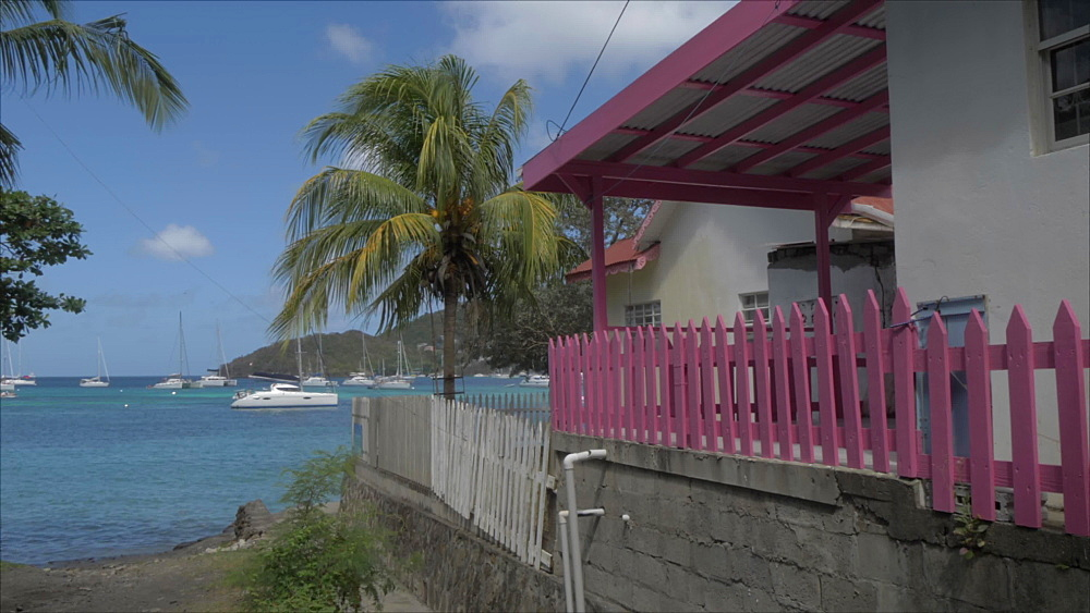 House on beach in Port Elizabeth, Bequia, St. Vincent and The Grenadines, West Indies, Caribbean, Central America