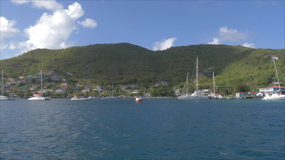 View leaving Port Elizabeth, Bequia, St. Vincent and The Grenadines, West Indies, Caribbean, Central America - 844-19139