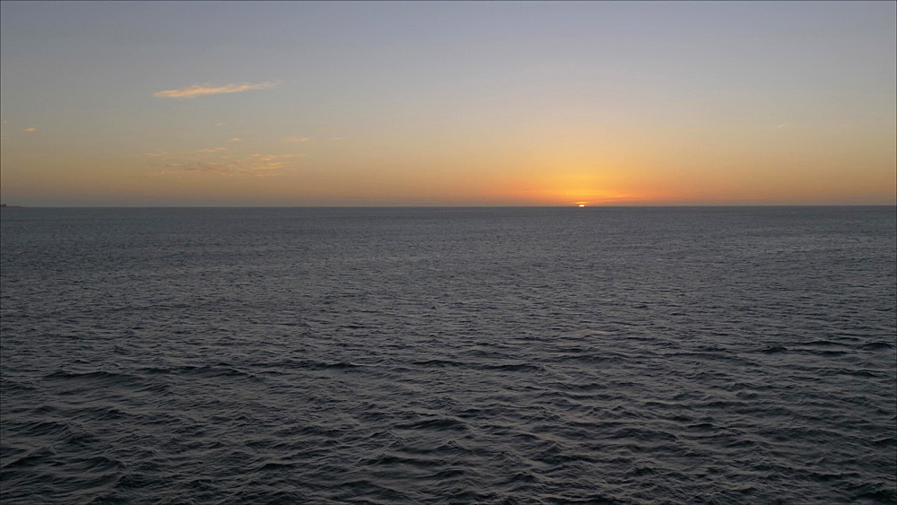 Sunset from cruise ship leaving port, Grenada, Windward Islands, West Indies, Caribbean, Central America