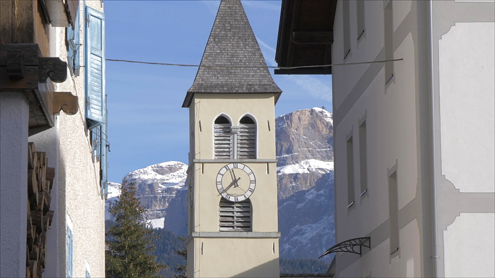 View of Catholic Church in Fontanazzo, Province of Trento, South Tyrol, Italy, Europe