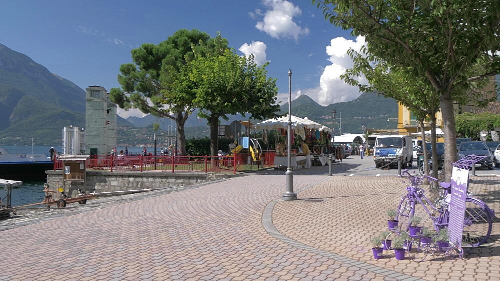 Lakeside in Varenna, Lake Como, Lombardy, Italian Lakes, Italy, Europe