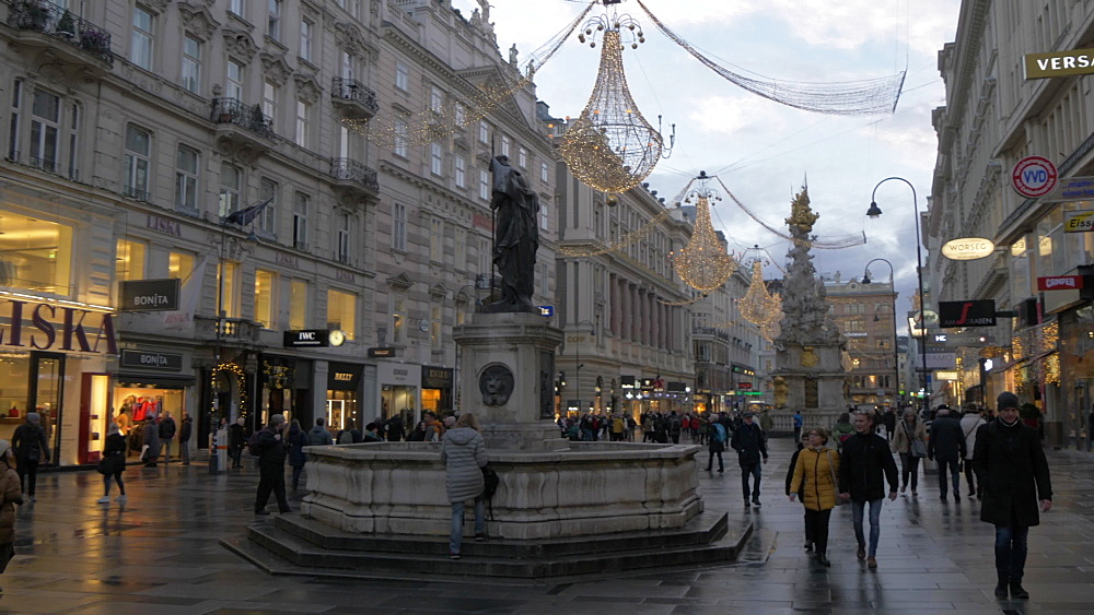 Architecture on Graben at Christmas, Vienna, Austria, Europe