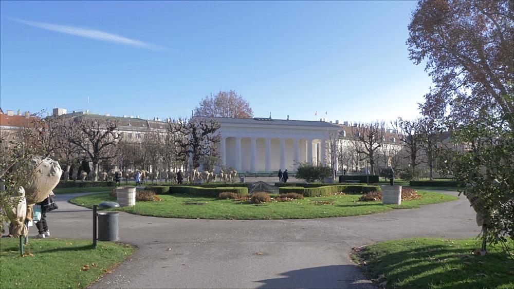 Volksgarten in winter, Vienna, Austria, Europe