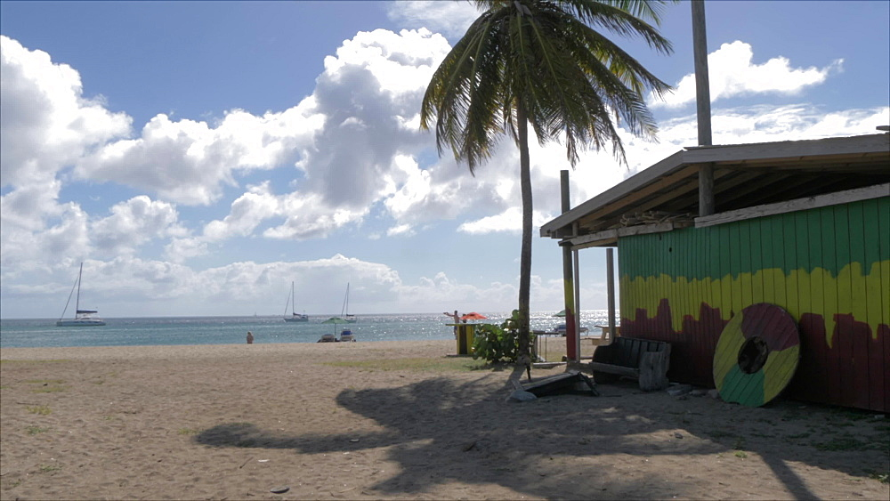 Colourful bar on Frigate Bay Beach, St. Kitts, St. Kitts and Nevis, Leeward Islands, West Indies, Caribbean, Central America