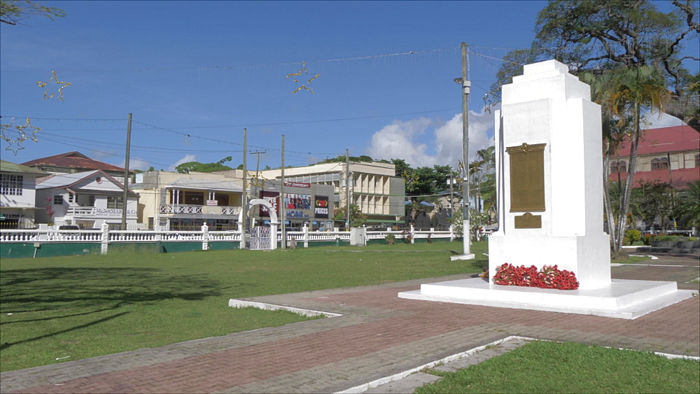 War monument in Derek Walcott Square, Castries, St. Lucia, Windward Islands, West Indies, Caribbean, Central America