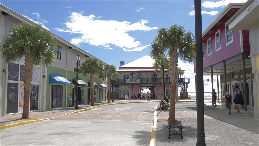 Duty free shopping area in Road Town, Tortola, British Virgin Islands, West Indies, Caribbean, Central America